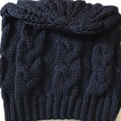 Touca em Tricot - Cor Azul Marinho